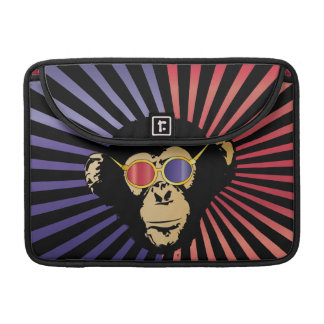 Cool Chimpanzee in 3d Glasses Sleeve For MacBooks