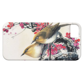 Cool chinese beautiful brown bird red cherry tree case for the iPhone 5