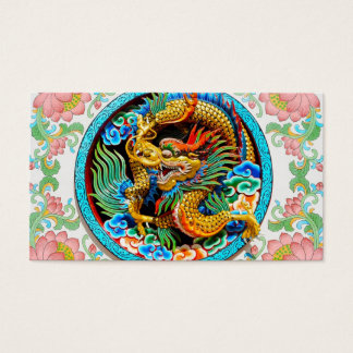 Cool chinese colourful dragon paint lotus flower