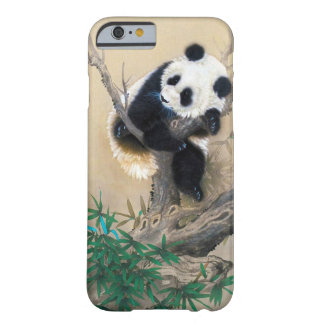 Cool chinese cute sweet fluffy panda bear tree art barely there iPhone 6 case