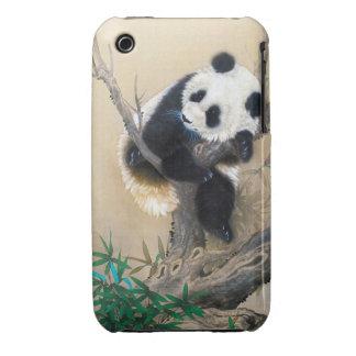 Cool chinese cute sweet fluffy panda bear tree art iPhone 3 Case-Mate case