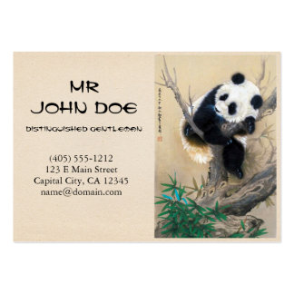 Cool chinese cute sweet fluffy panda bear tree art pack of chubby business cards