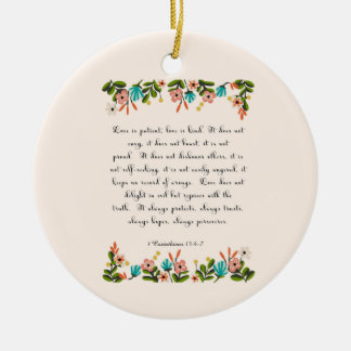 Cool Christian Art - Corinthians 13:4-7 Ceramic Ornament