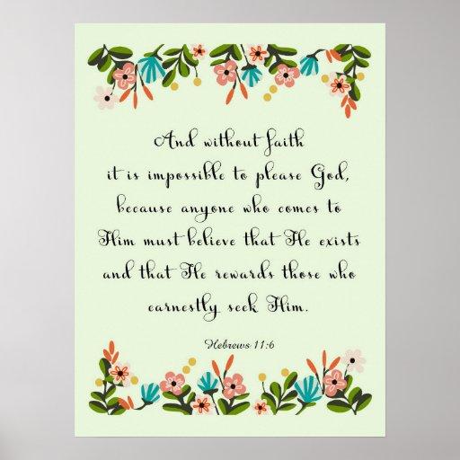 Cool Christian Art - Hebrews 11:6 Print
