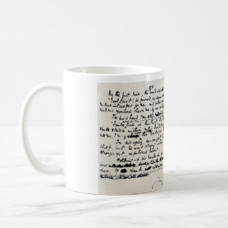 COOL CHRISTMAS CAROLS CHARLES DICKENS MANUSCRIPT COFFEE MUG