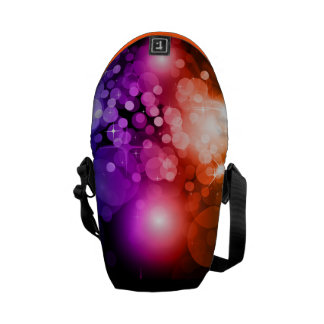 Cool Circles Abstract Colorful Vector Pattern Courier Bag