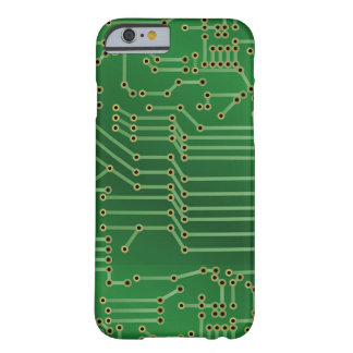 Cool Circuit Board Computer Green Barely There iPhone 6 Case