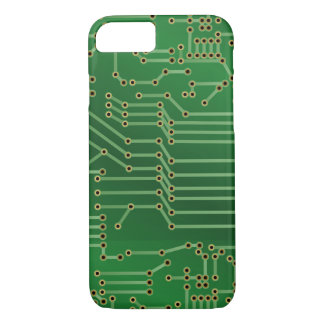 Cool Circuit Board Computer Green iPhone 8/7 Case