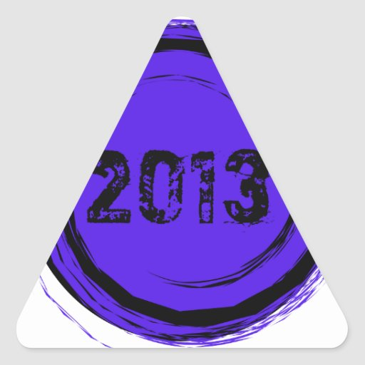 Cool Class of 2013 Graduation Triangle Stickers