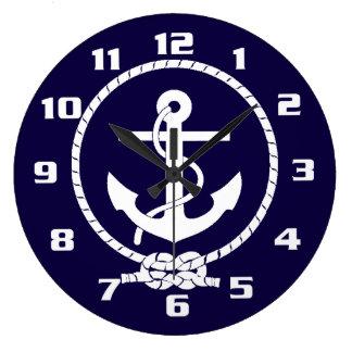 Cool Classic and Elegant Nautical Anchor Large Clock