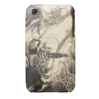 Cool classic vintage japanese demon dragon tattoo Case-Mate iPhone 3 case