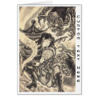Cool classic vintage japanese demon ink tattoo card
