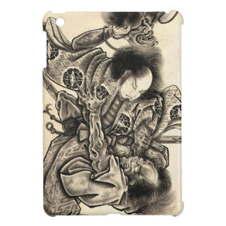 Cool classic vintage japanese demon ink tattoo iPad mini case