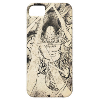 Cool classic vintage japanese demon ink tattoo iPhone 5 cover