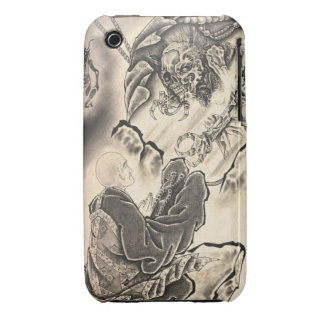 Cool classic vintage japanese demon monk tattoo iPhone 3 Case-Mate cases