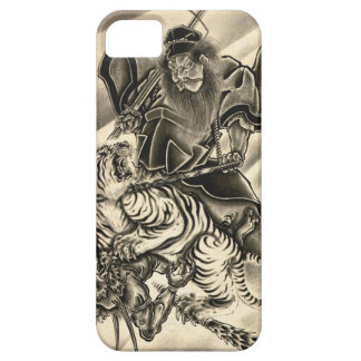 Cool classic vintage japanese demon samurai tiger barely there iPhone 5 case