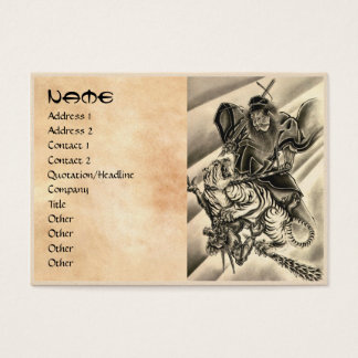 Cool classic vintage japanese demon samurai tiger business card