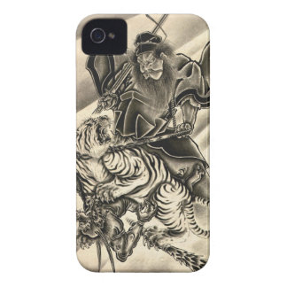 Cool classic vintage japanese demon samurai tiger iPhone 4 covers