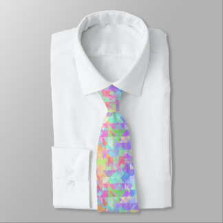 Cool Classy Colorful Triangles Squares Pattern Tie