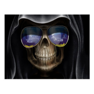 Cool Cloaked Skull Postcard