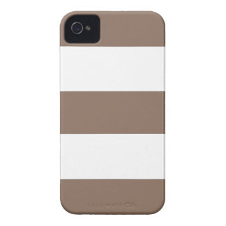 Cool Cocoa Sand & White Stripe iPhone Case Gift iPhone 4 Case-Mate Case