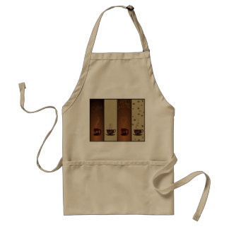 Cool Coffee Cups & Coffee Beans Adult Apron