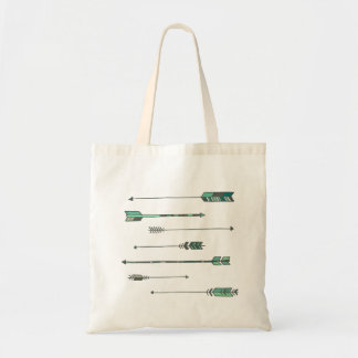 Cool color arrow tote
