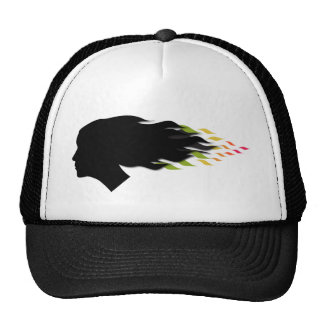 Cool color leaf hair mesh hats