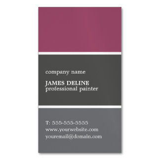 Cool Color Palette Professional Painter Magnetic Business Cards