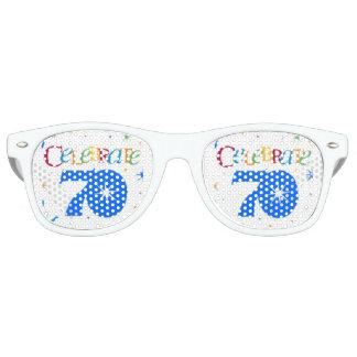 cool colored celebrate  70 retro sunglasses