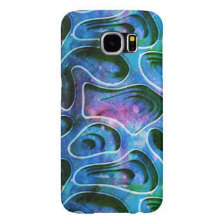Cool Colorful 3D Abstract Shapes Background Samsung Galaxy S6 Cases