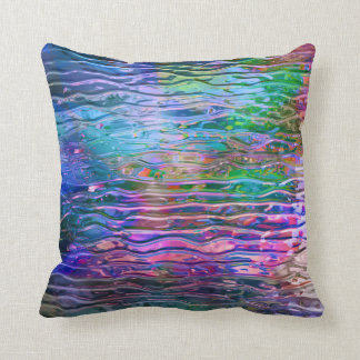Cool Colorful Abstract Melting Glass Cushion