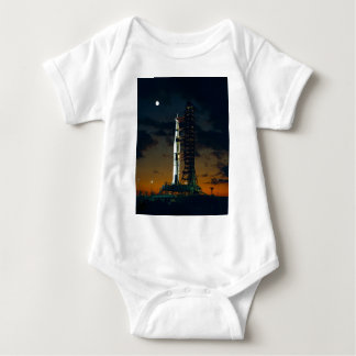 Cool Colorful Apollo Moon Mission at Launchpad Baby Bodysuit