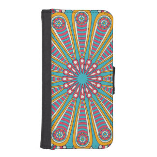 Cool colorful Boho Mandala iPhone SE/5/5s Wallet Case