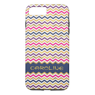 Cool Colorful Chevron Pattern With Name iPhone 8 Plus/7 Plus Case