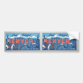 Cool Colorful Denver Air Conditioned By Nature, Vi Bumper Stickers