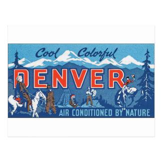 Cool Colorful Denver Postcard