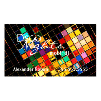Cool Colorful DJ-Indestructible Business Cards