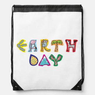 Cool Colorful Earth Day Custom Hoodie Backpack