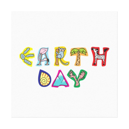 Cool Colorful Earth Day Wrap Canvas Gallery Wrap Canvas