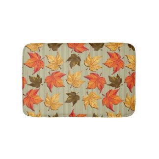 Cool Colorful Fall Leafs Pattern Bath Mats