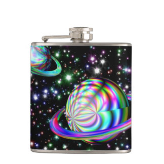 Cool Colorful Galaxy Flask. Hip Flask