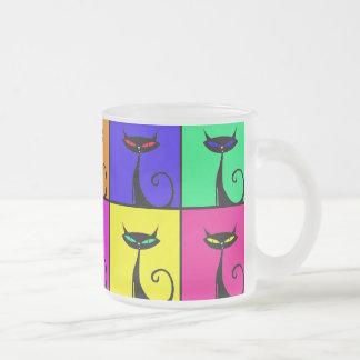 Cool Colorful Kitty Cat Pop Art Coffee Mugs