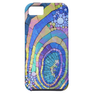 Cool Colorful Mosaic Spiral Pattern iPhone 5 Covers