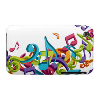 Cool Colorful music notes sounds iPhone 3 Case-Mate Case