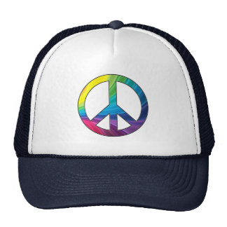 Cool Colorful Peace Sign Cap