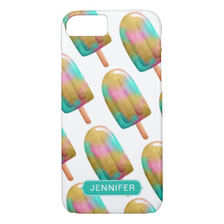 Cool Colorful Popsicle Pattern with Monogram iPhone 8/7 Case