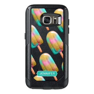 Cool Colorful Popsicle Pattern with Monogram OtterBox Samsung Galaxy S7 Case