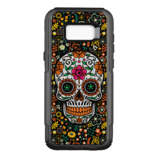 Cool Colorful Retro Flowers Sugar Skull OtterBox Commuter Samsung Galaxy S8+ Case
