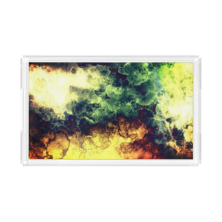 Cool colorful  smokey textured background tray